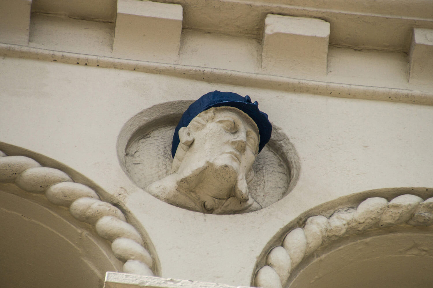 The popular 'jockey' head on Top Hat Terrace - By John Brown