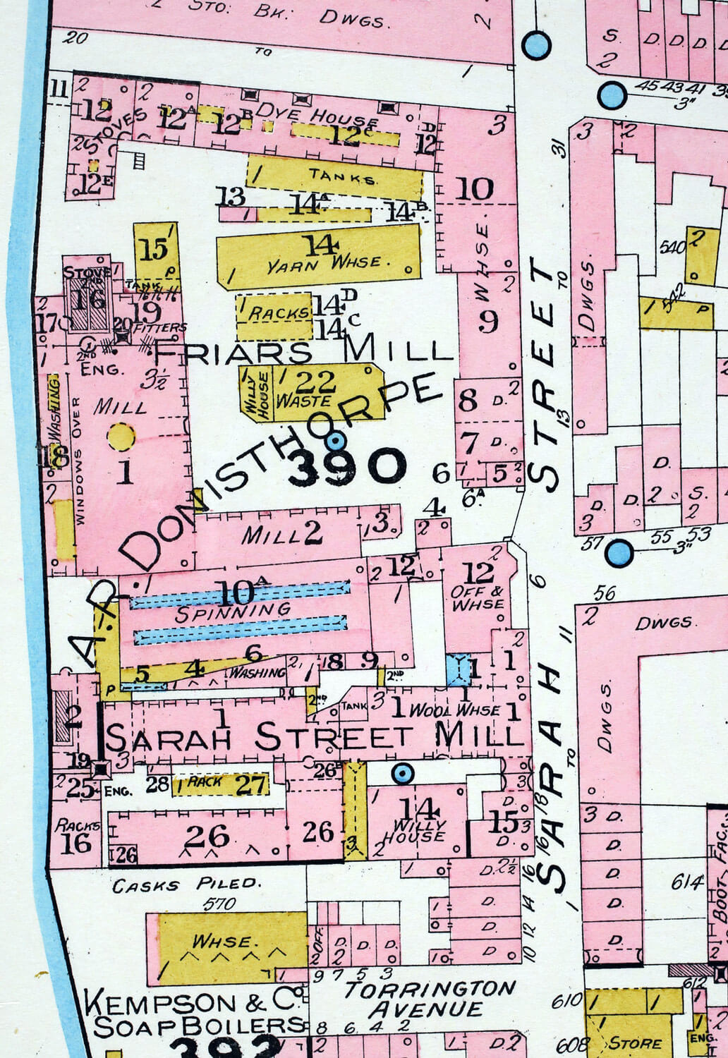 Detail from Goad Insurance Map, 1888 -
