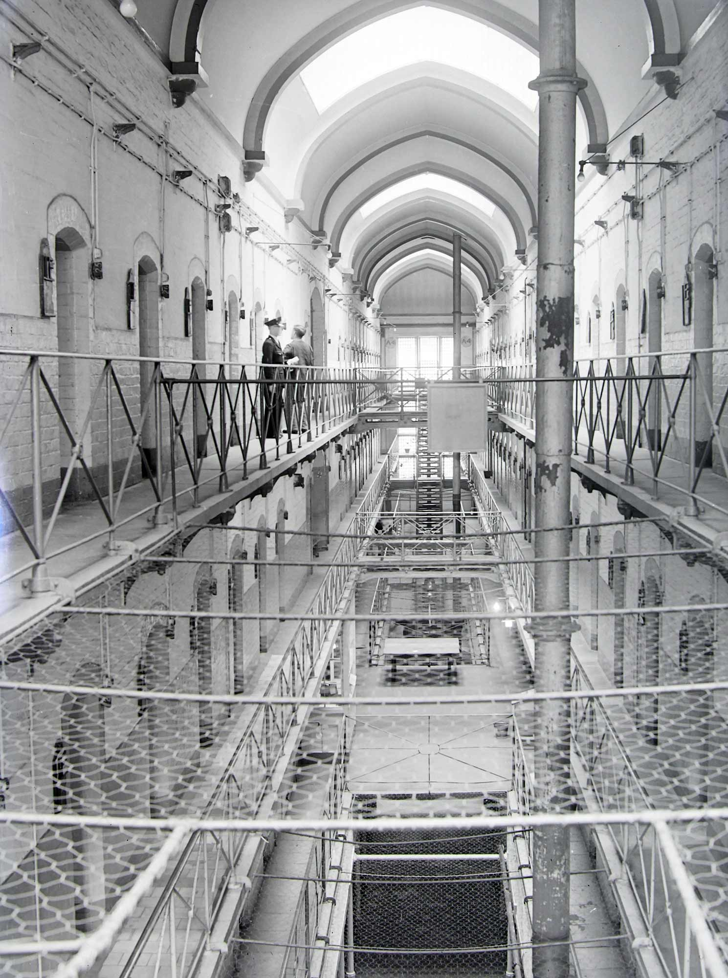 HM Prison Leicester interior, mid-20th Century - Leicester and Leicestershire Record Office