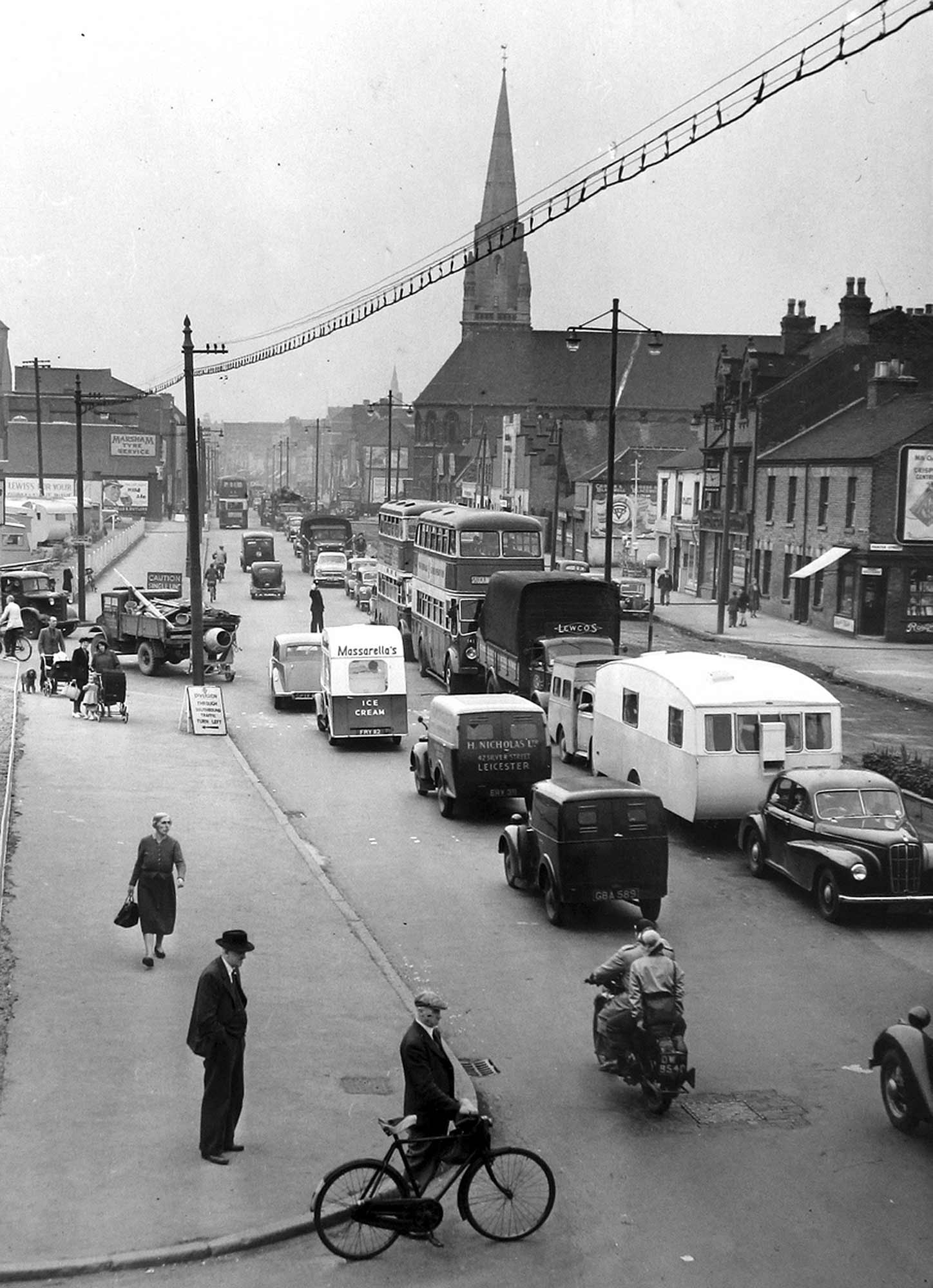 St. Mark's and Belgrave Gate, 1950s -