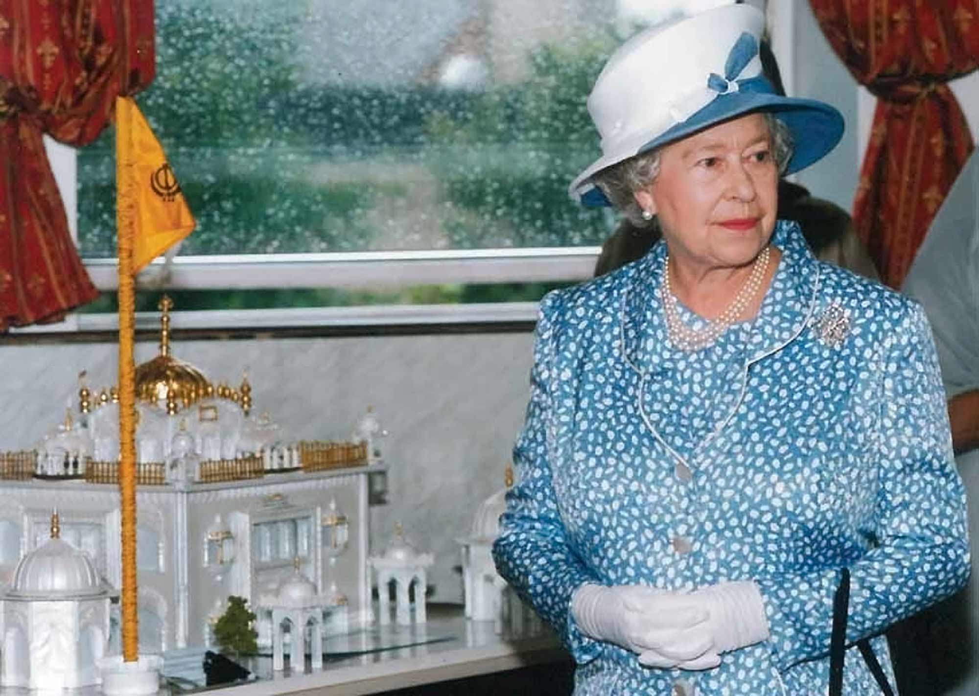 The Queen visited the Gurdwara in 2002 - Gurdwara picture archive