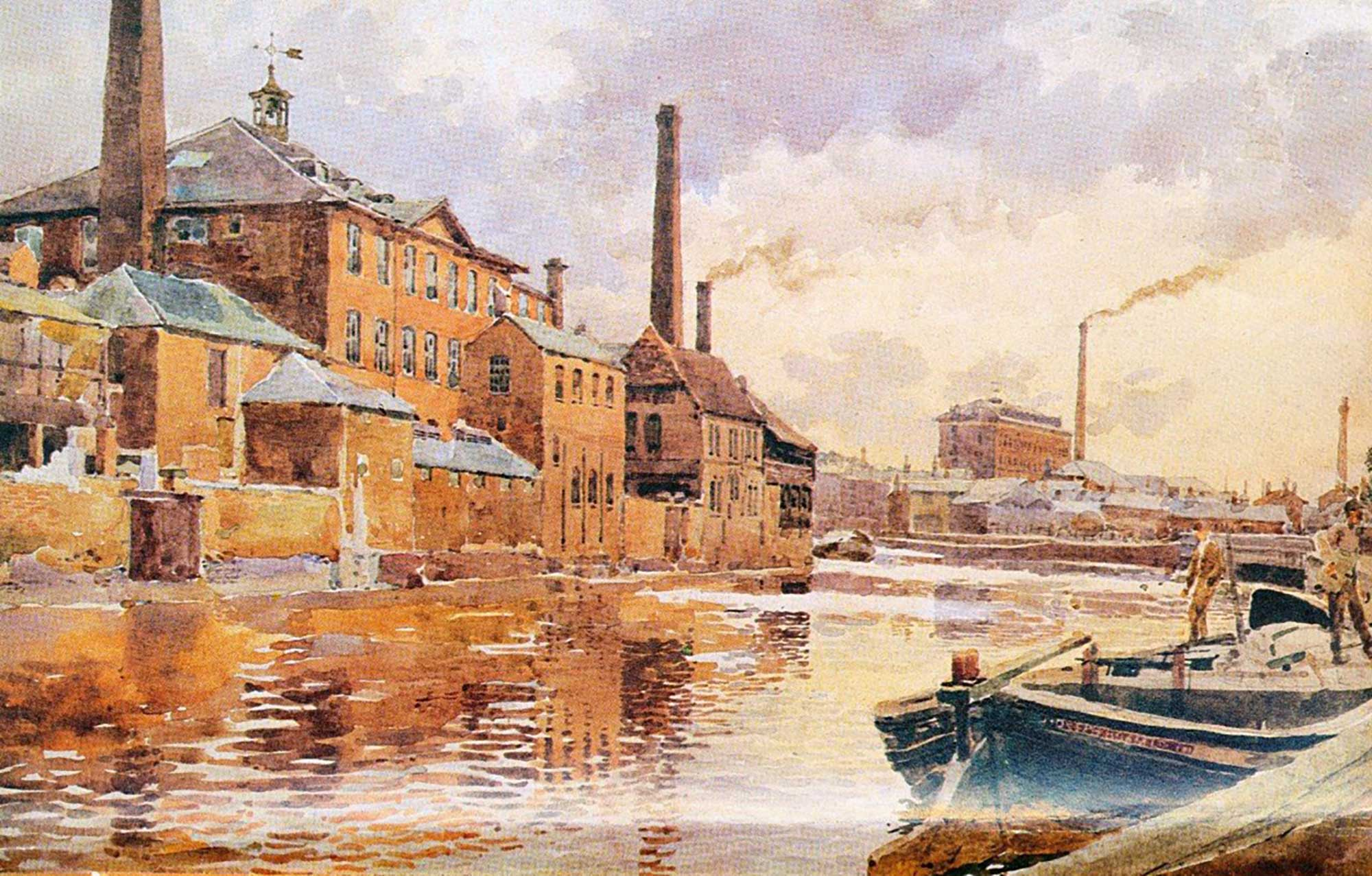 Old Factories on the Canal by George M. Henton -