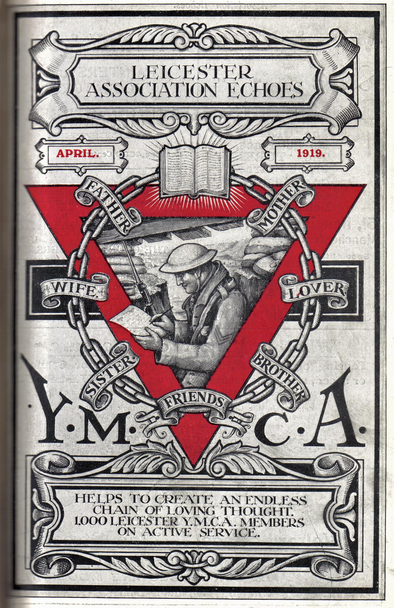 YMCA WWI message, 1919 -