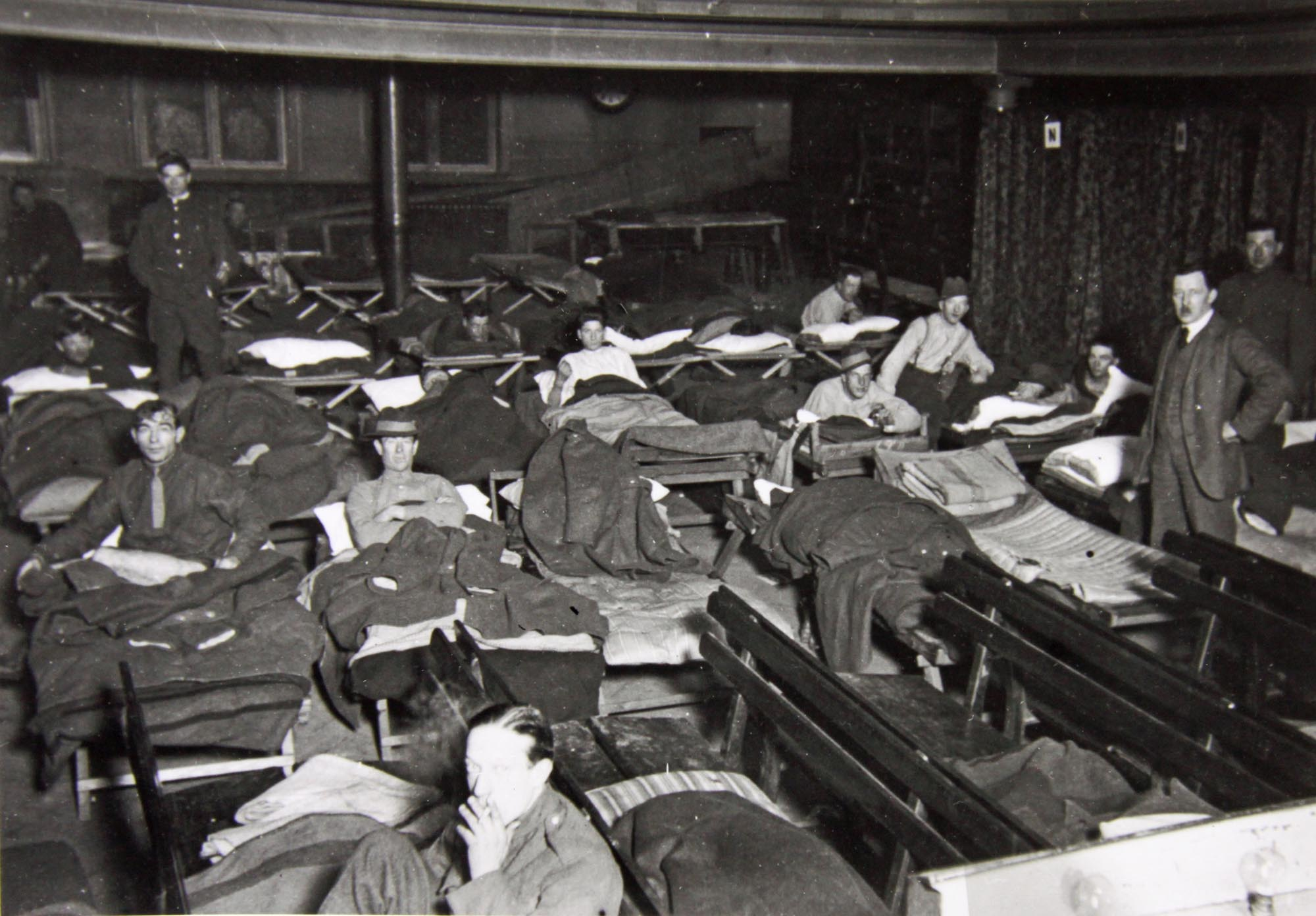 Dormitory for servicemen during WWI - Leicestershire Record Office