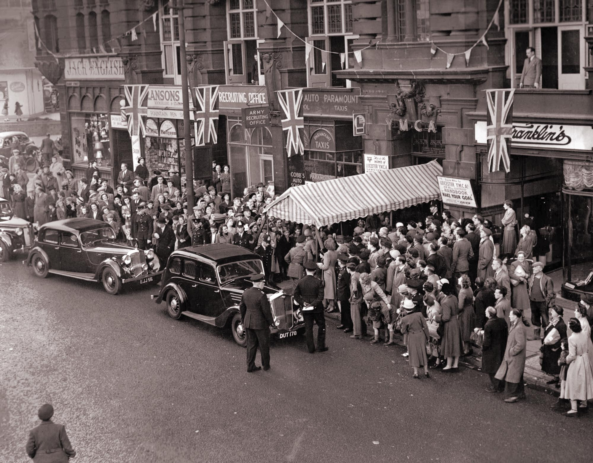 The Princess Royal visits the YMCA in 1950 -