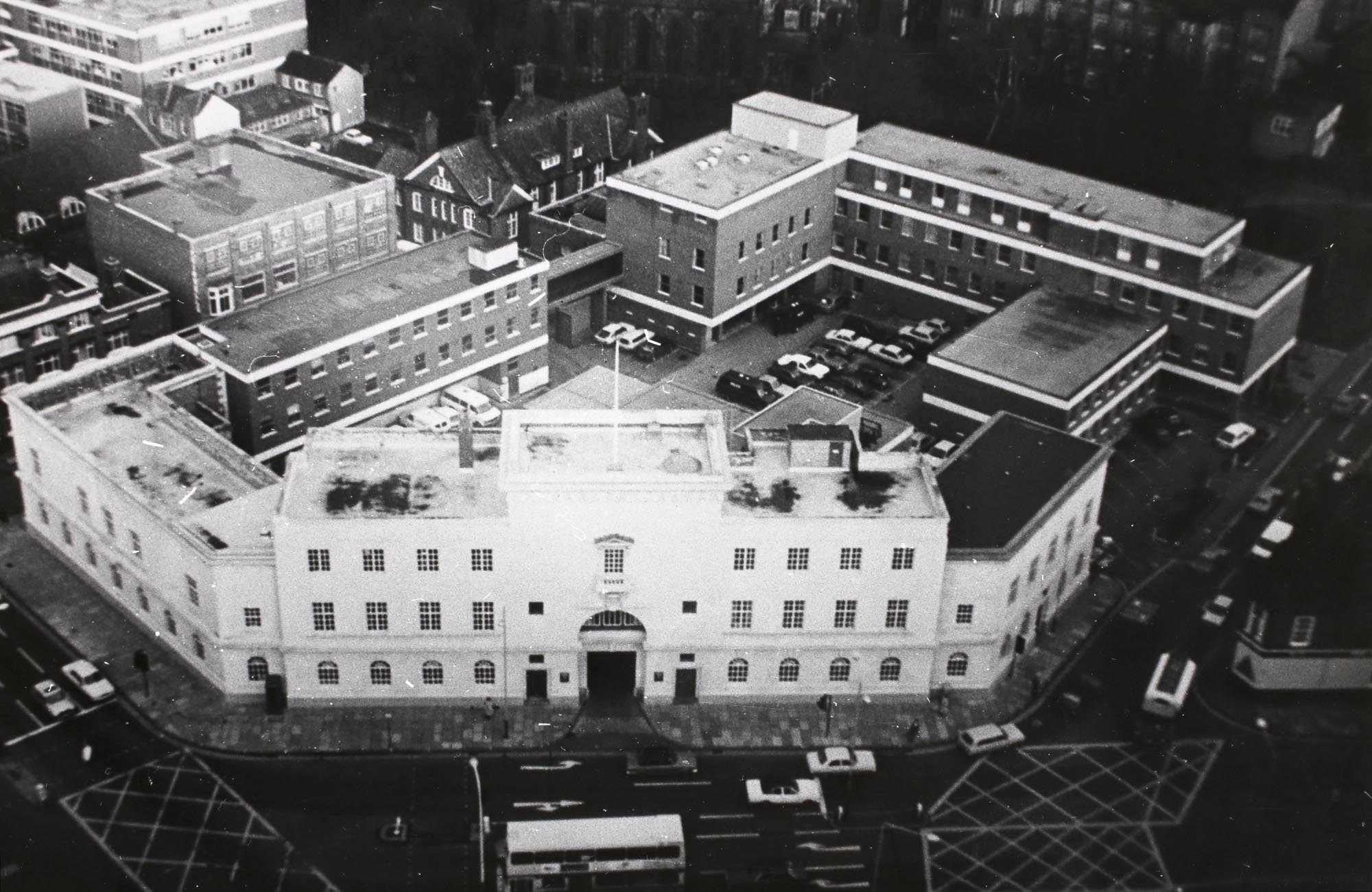 Aerial view, City Police Headquarters - Leicestershire Record Office