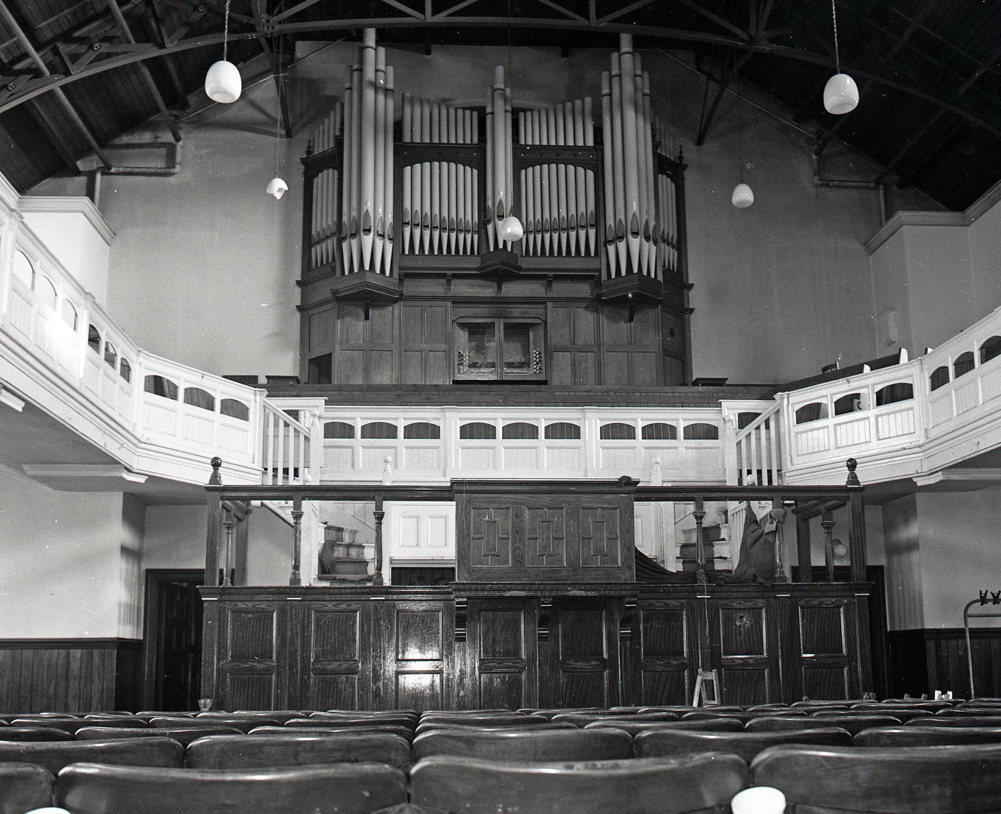 The church organ before it was decommissioned -