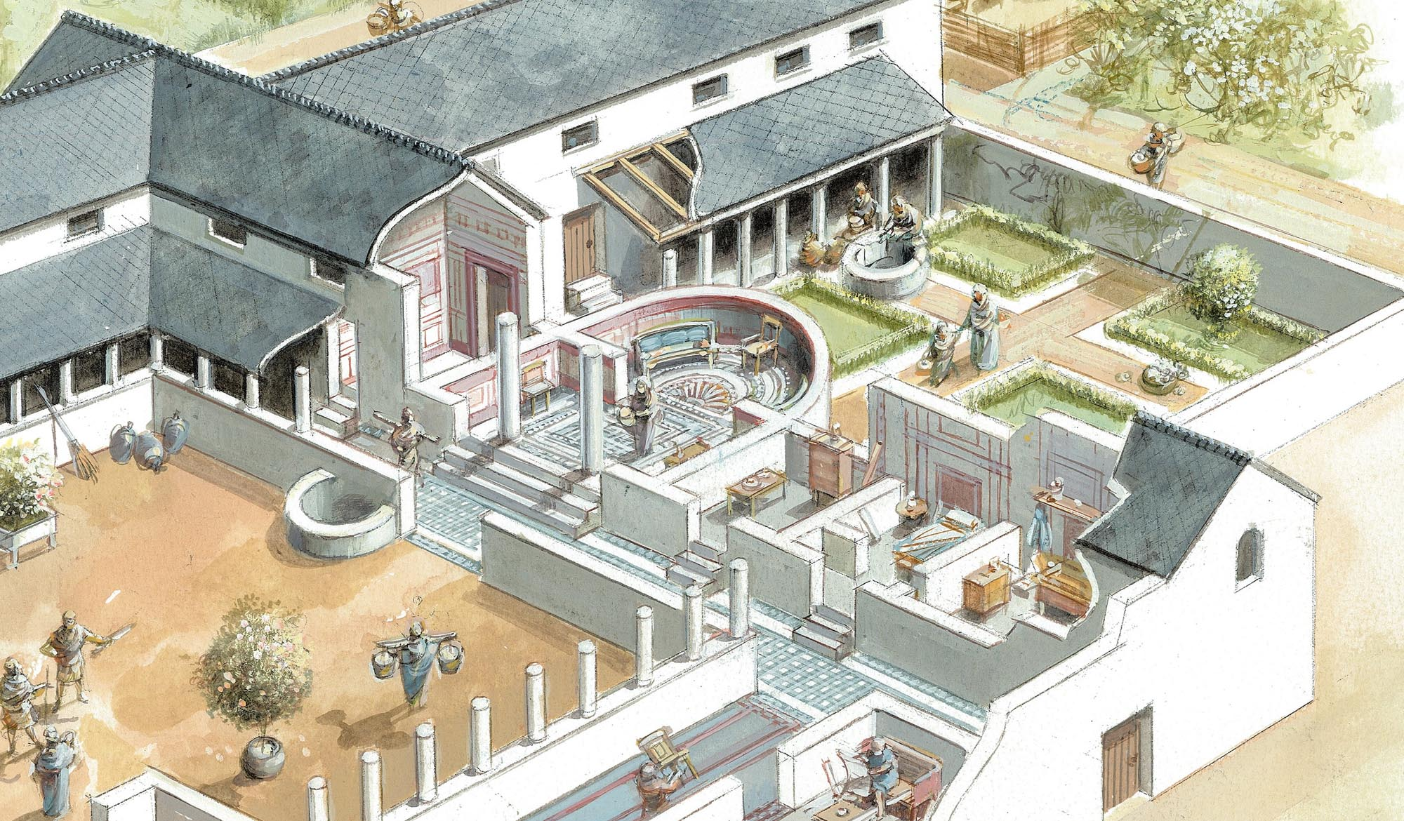 Vine Street courtyard house, detailed view - Mike Codd/University of Leicester Archaeological Services