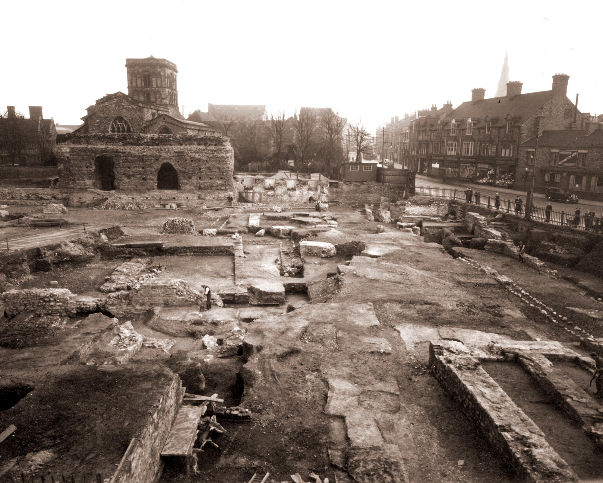 Kathleen Kenyon's excavation of Jewry Wall, 1936-39 -