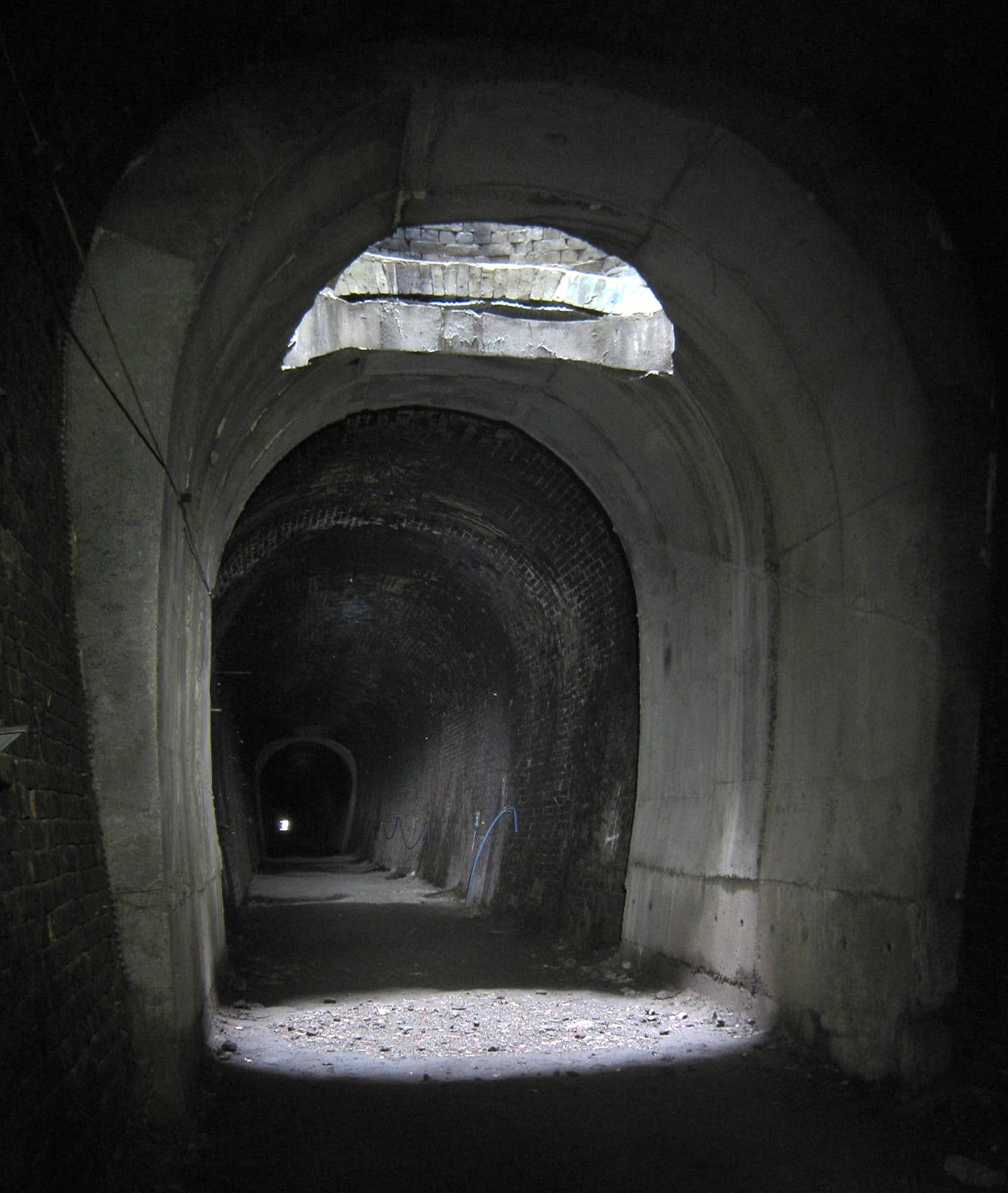 Tunnel interior, excavation shaft 2015 - Keith Rose, Scottish Borders