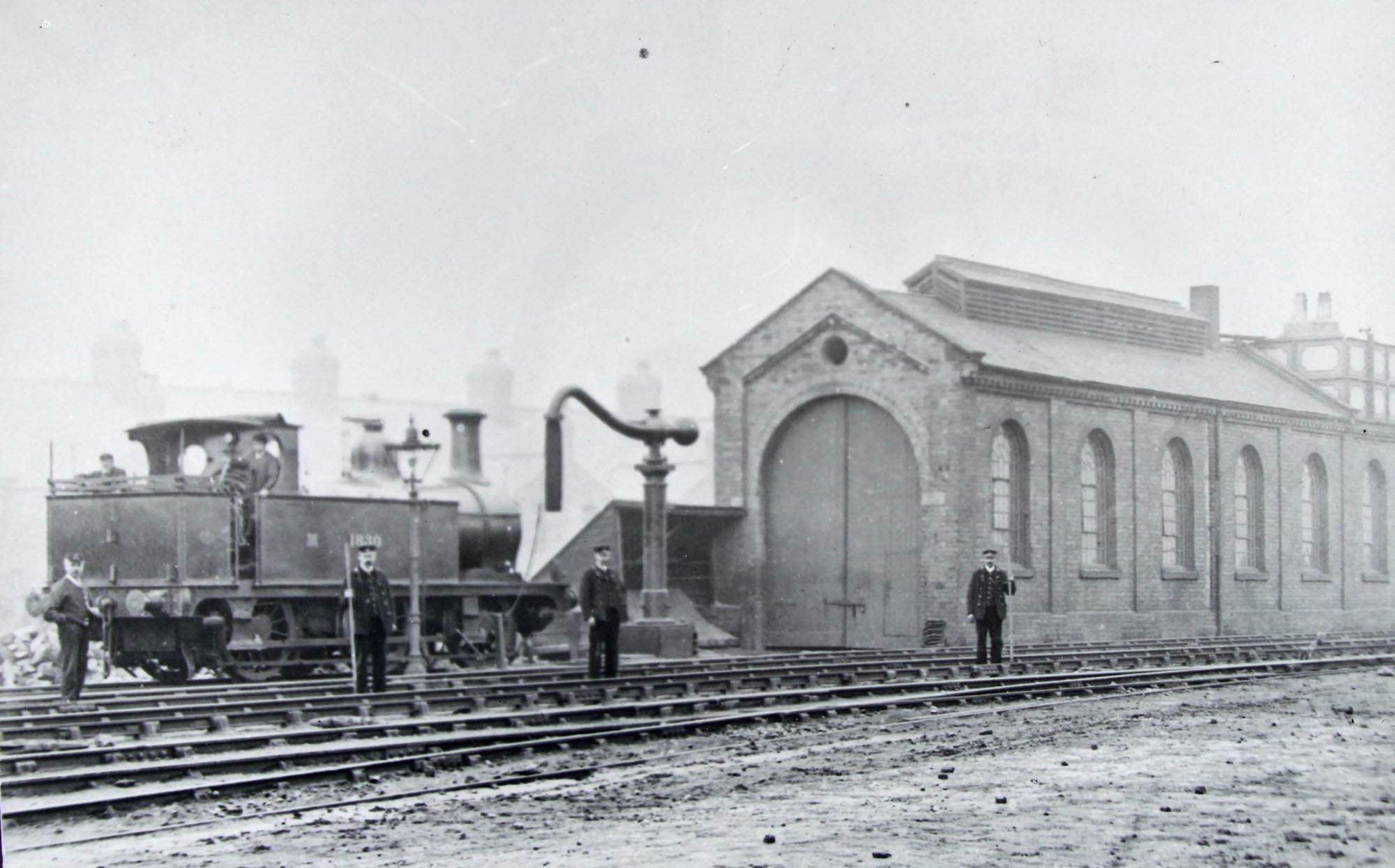 West Bridge Station engine shed, 1907 - Leicestershire Record Office