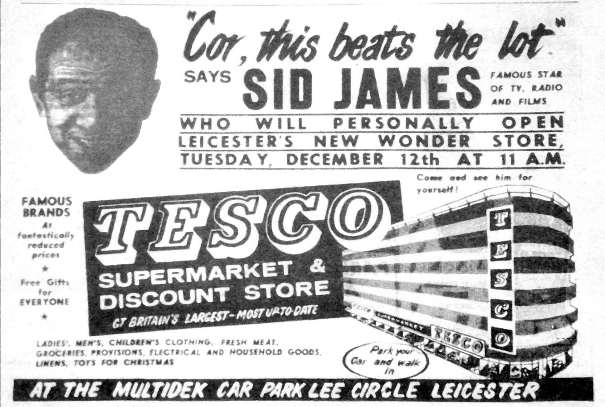 Advert promoting the opening of the new Tesco store - Leicester Mercury