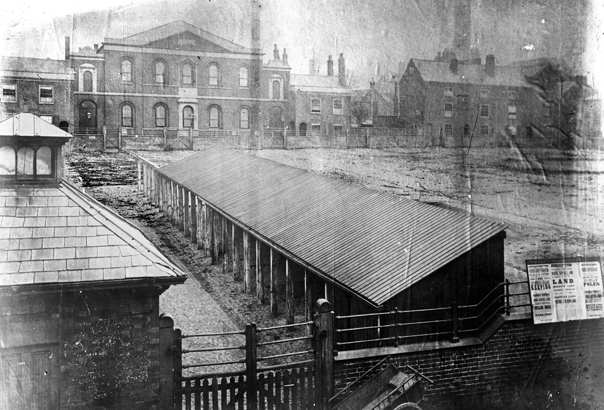 The Town Hall Square when it was still a cattle market, c1870 -