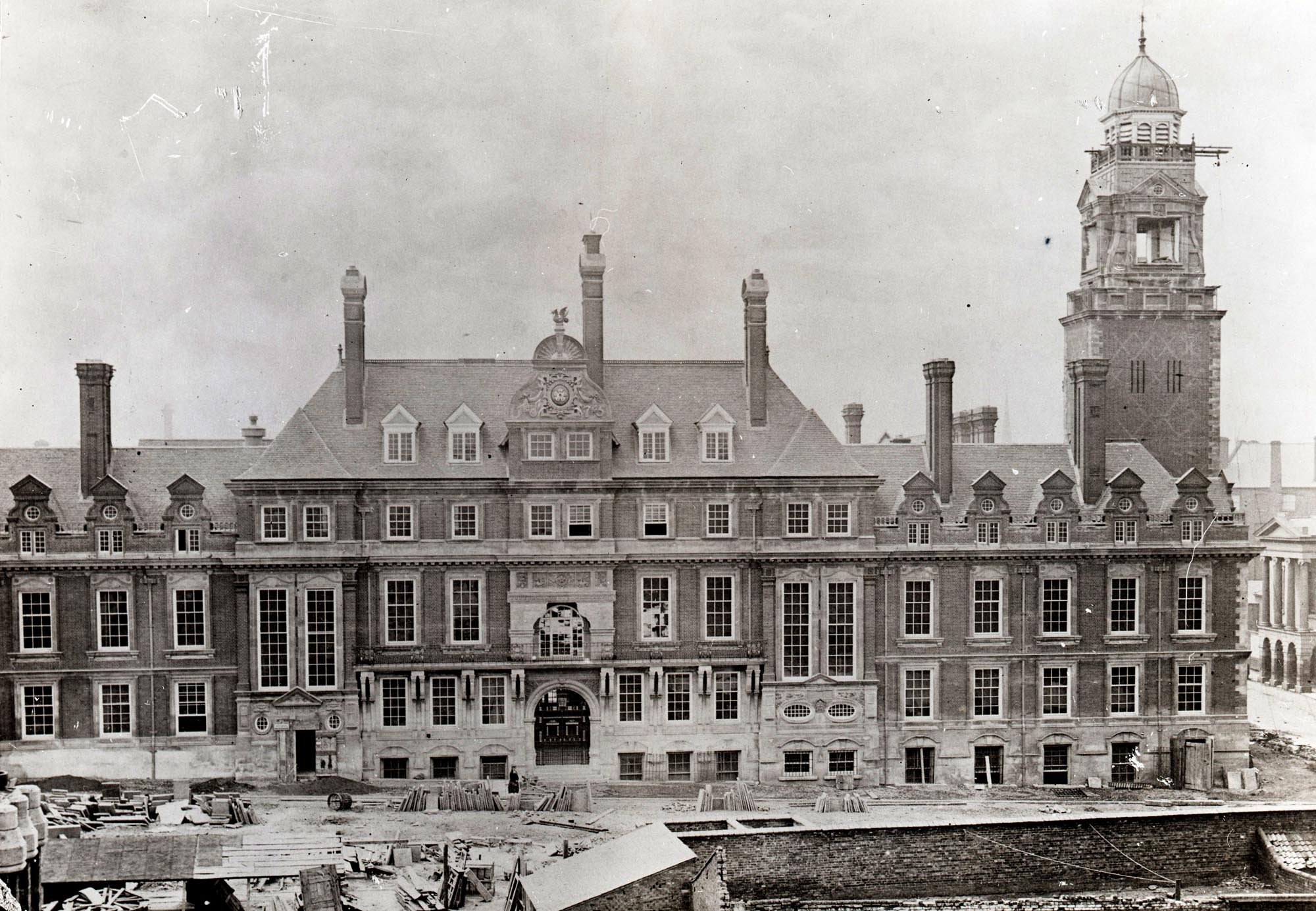 The Town Hall under construction, 1876 -