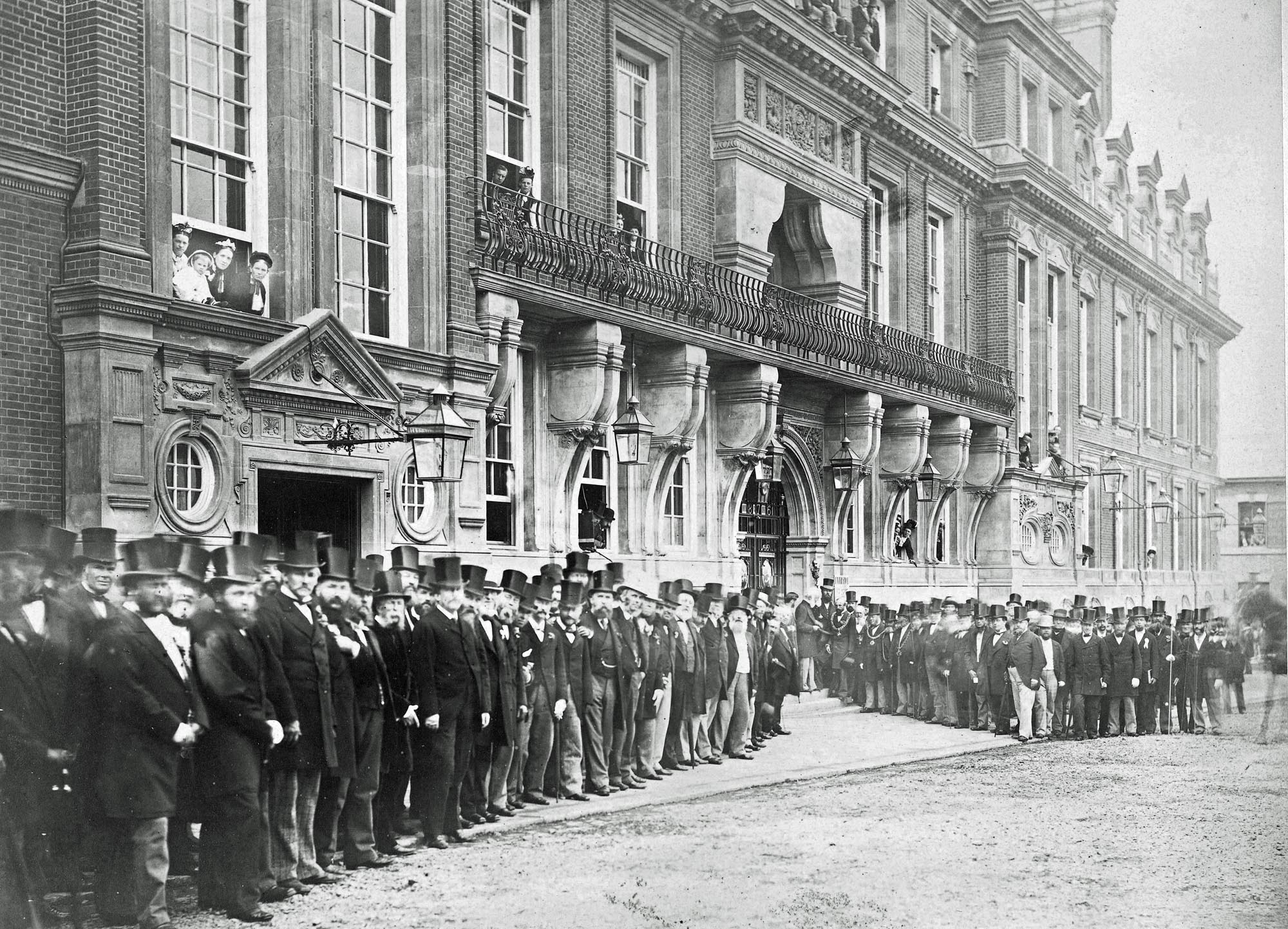 The opening ceremony of the Town Hall, August 7th 1876 -
