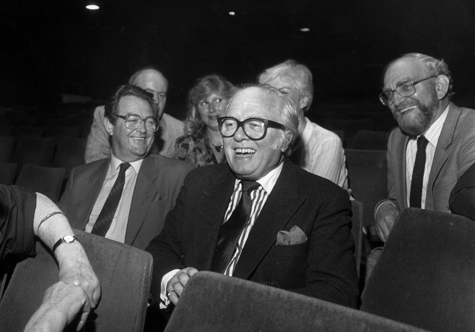 Richard Attenborough visiting the Theatre in May 1989 - Leicester Mercury