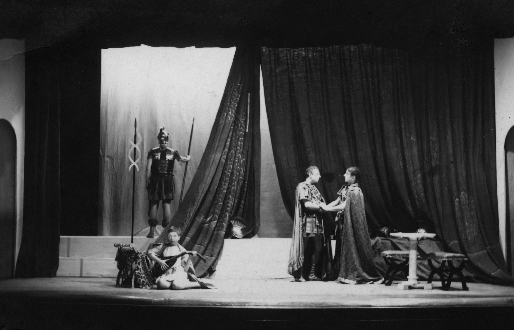 Richard Attenborough as Lucius (lute player) in 1937 - Little Theatre Archive