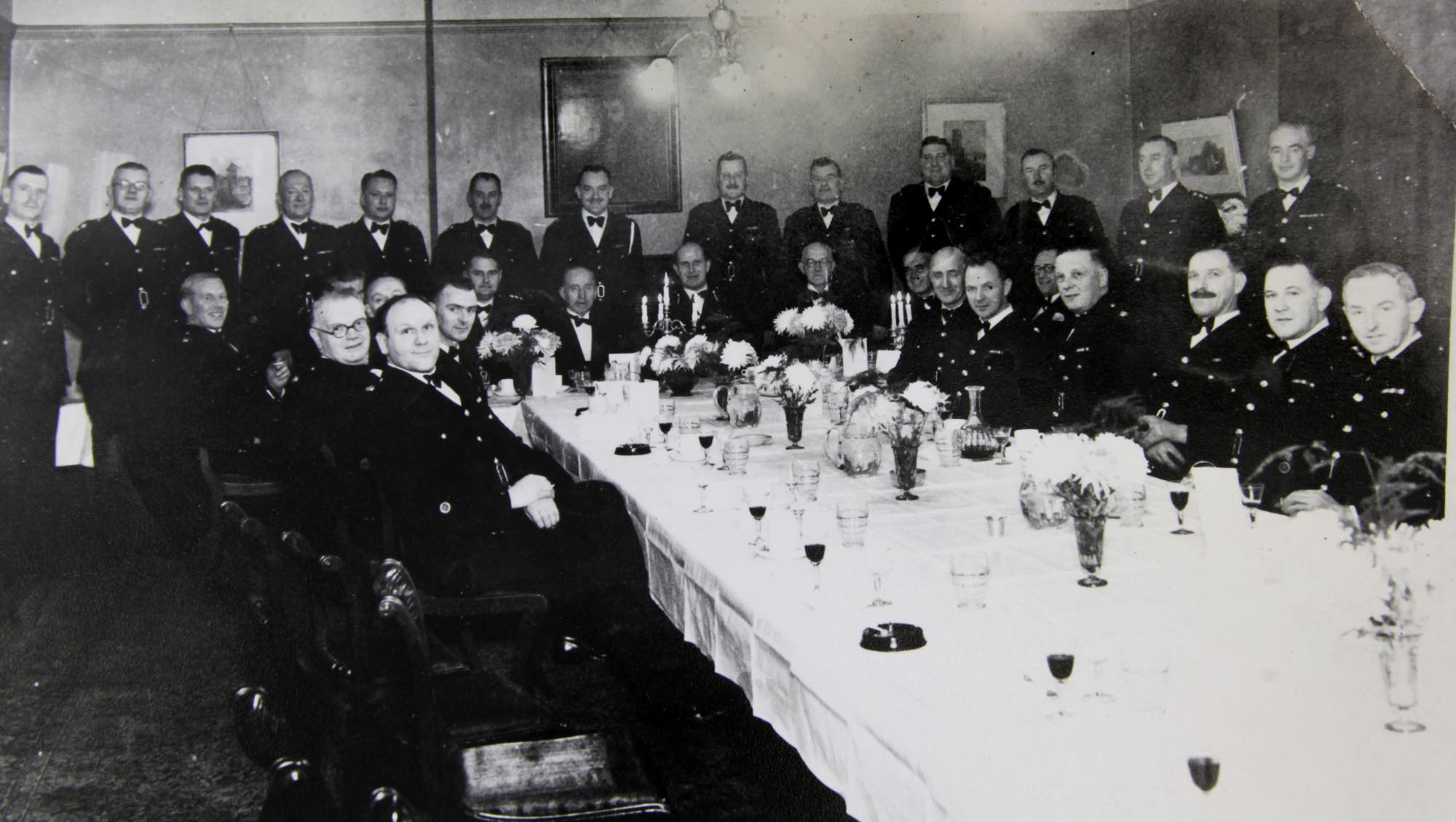 Inaugural diner, Leicester, Leicestershire and Rutland Constabulary Officers Mess, 1951 - Leicestershire Record Office