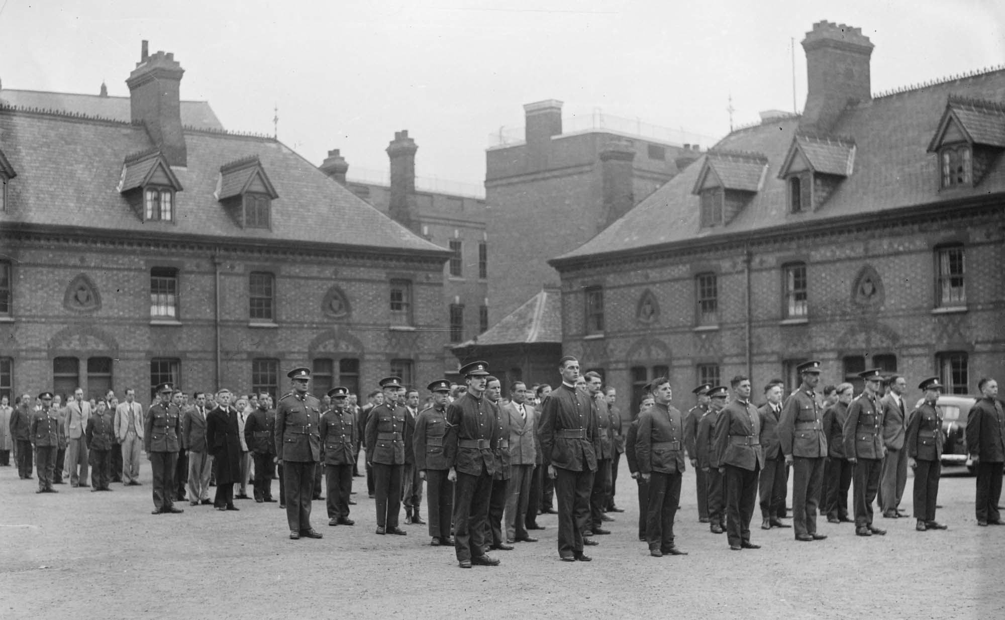 45th Battalion Leicester Regiment Parade, Magazine Square - Leicestershire Record Office