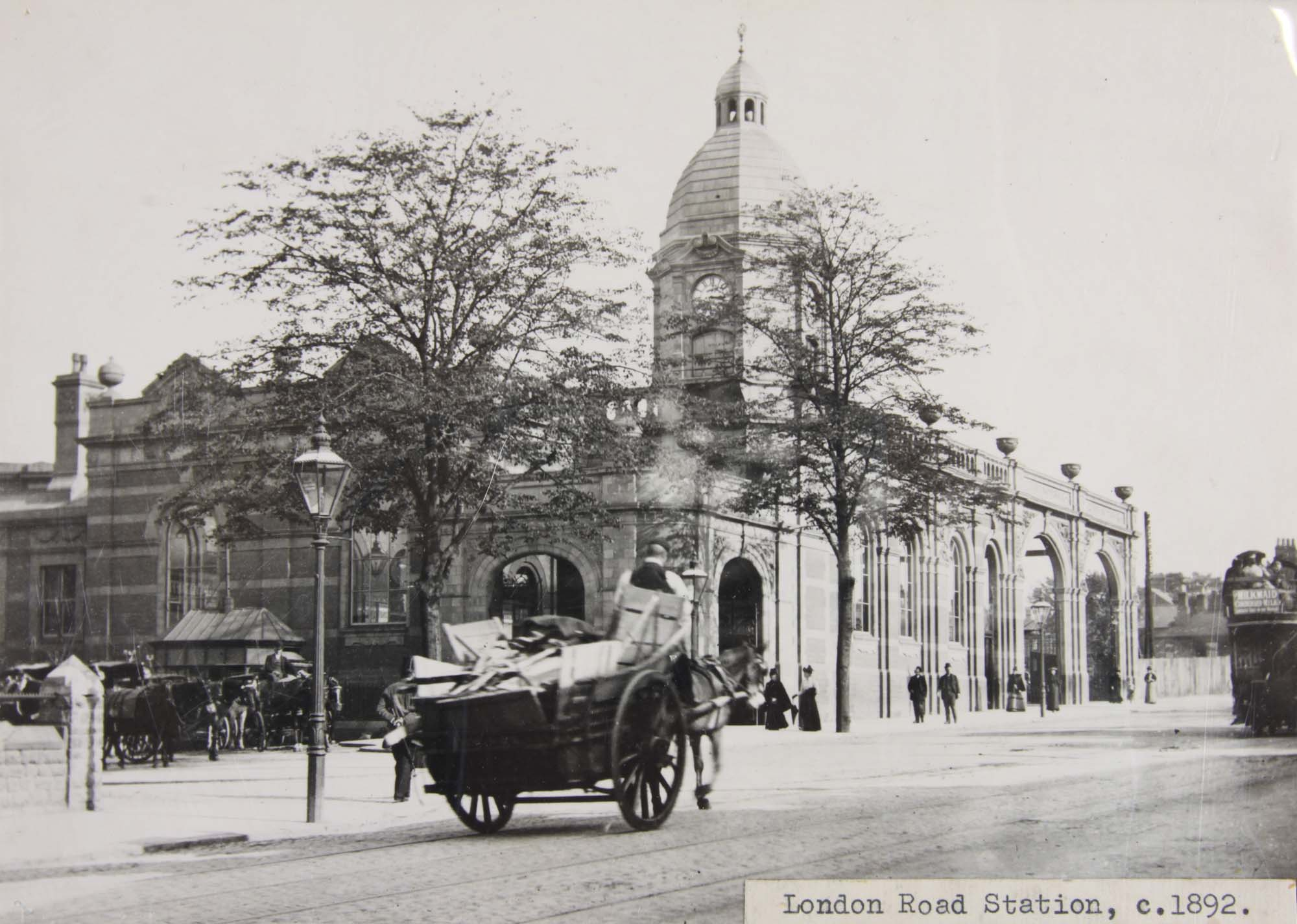 London Road Station, 1892 - Leicestershire Record Office