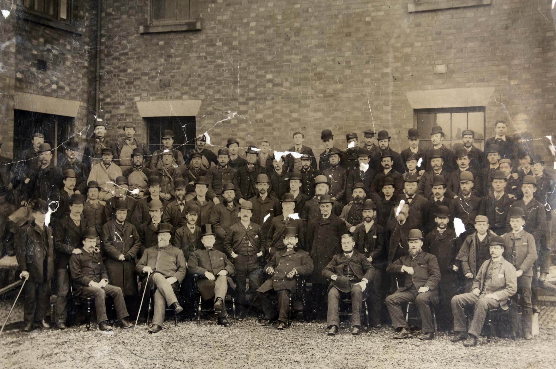 Midland Railway Staff c.1880s - Leicestershire Record Office