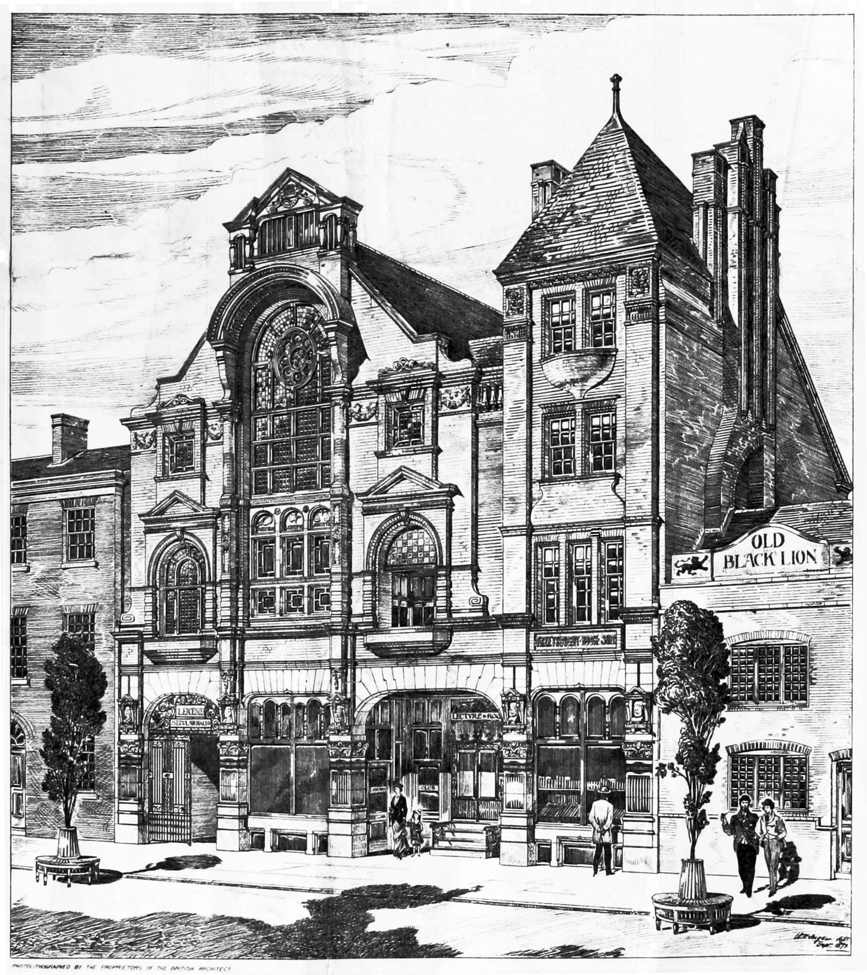 Artist's impression of how the Hall would look, 1879 -