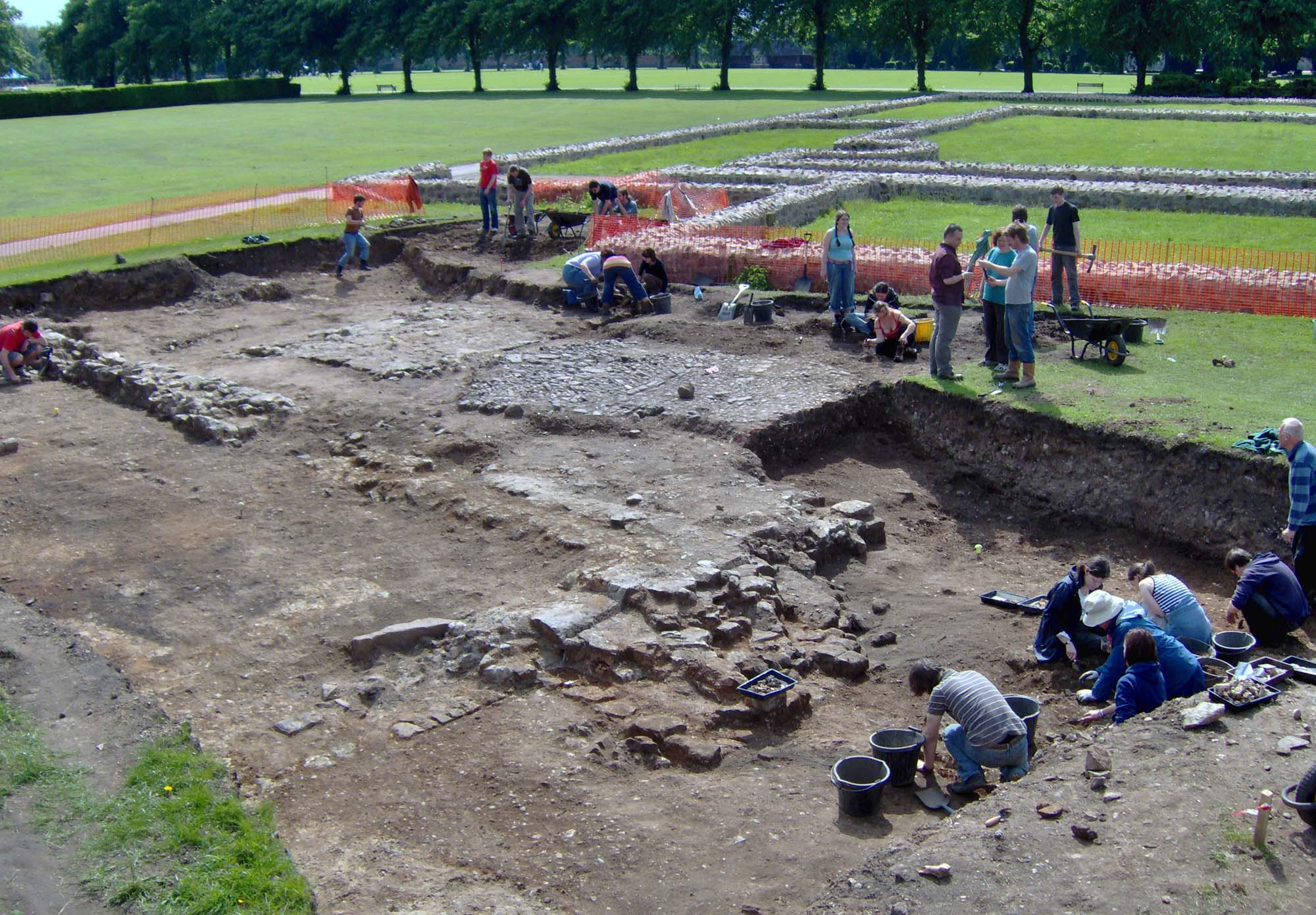 The University of Leicester carried out extensive archaeological excavations at the site of Leicester Abbey between 2000 and 2009 - University of Leicester Archaeological Services