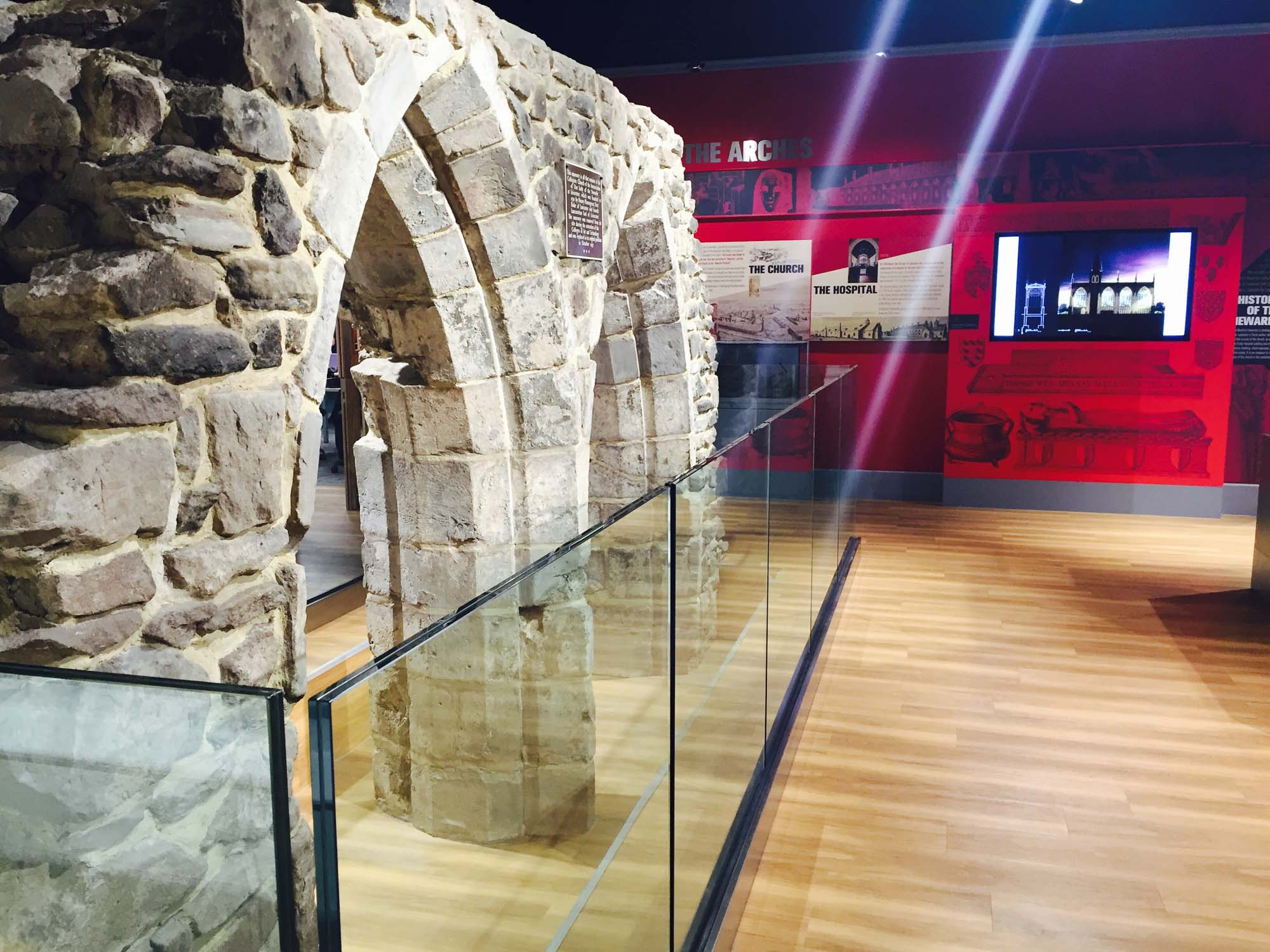 The remains of the Church of the Annunciation in the DMU Heritage Cetre - DMU Heritage Centre