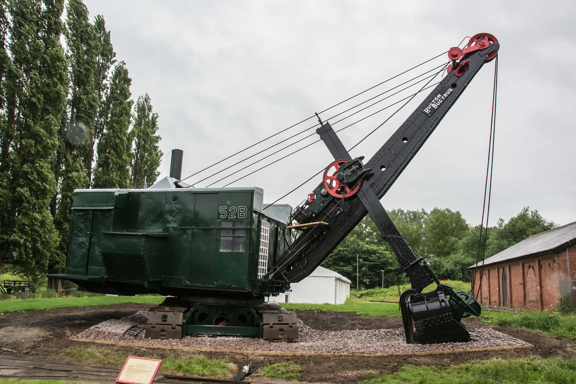 You can see this beautifully restored steam shovel in the grounds of the museum -