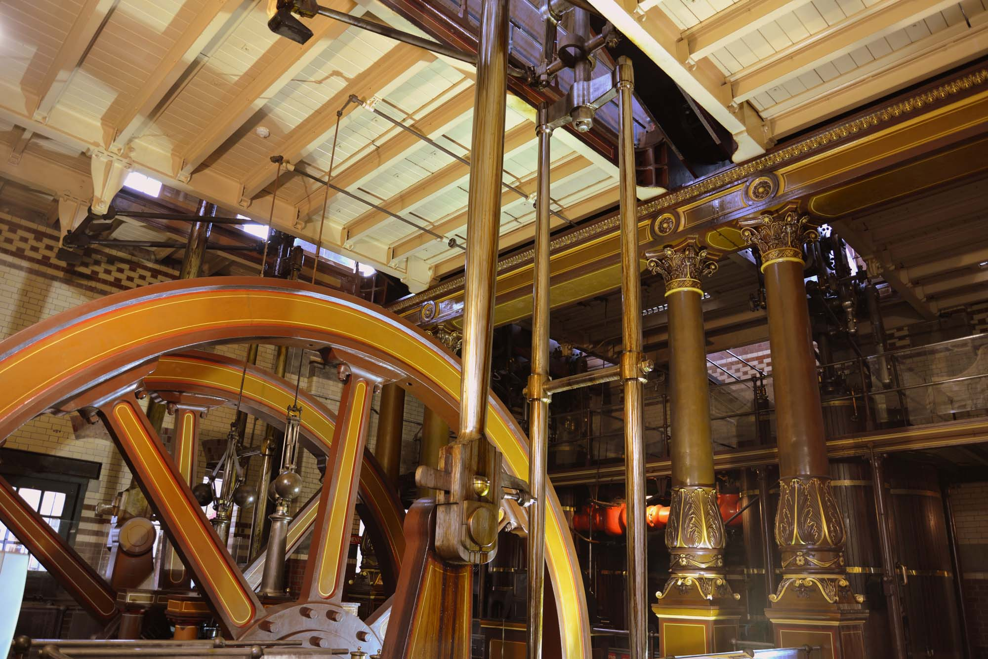 The unique beam engines at Abbey Pumping Station Museum -