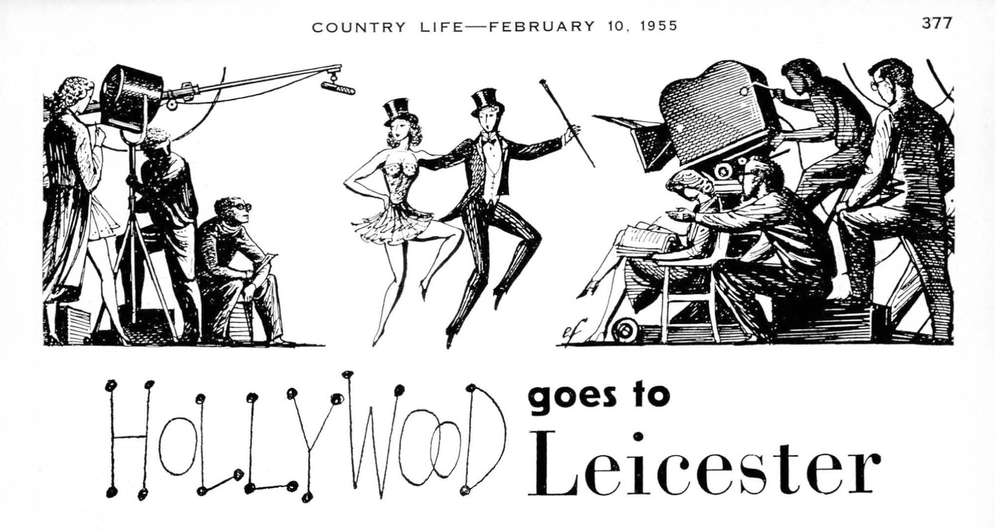 Country life 1955 hollywood leicester banner