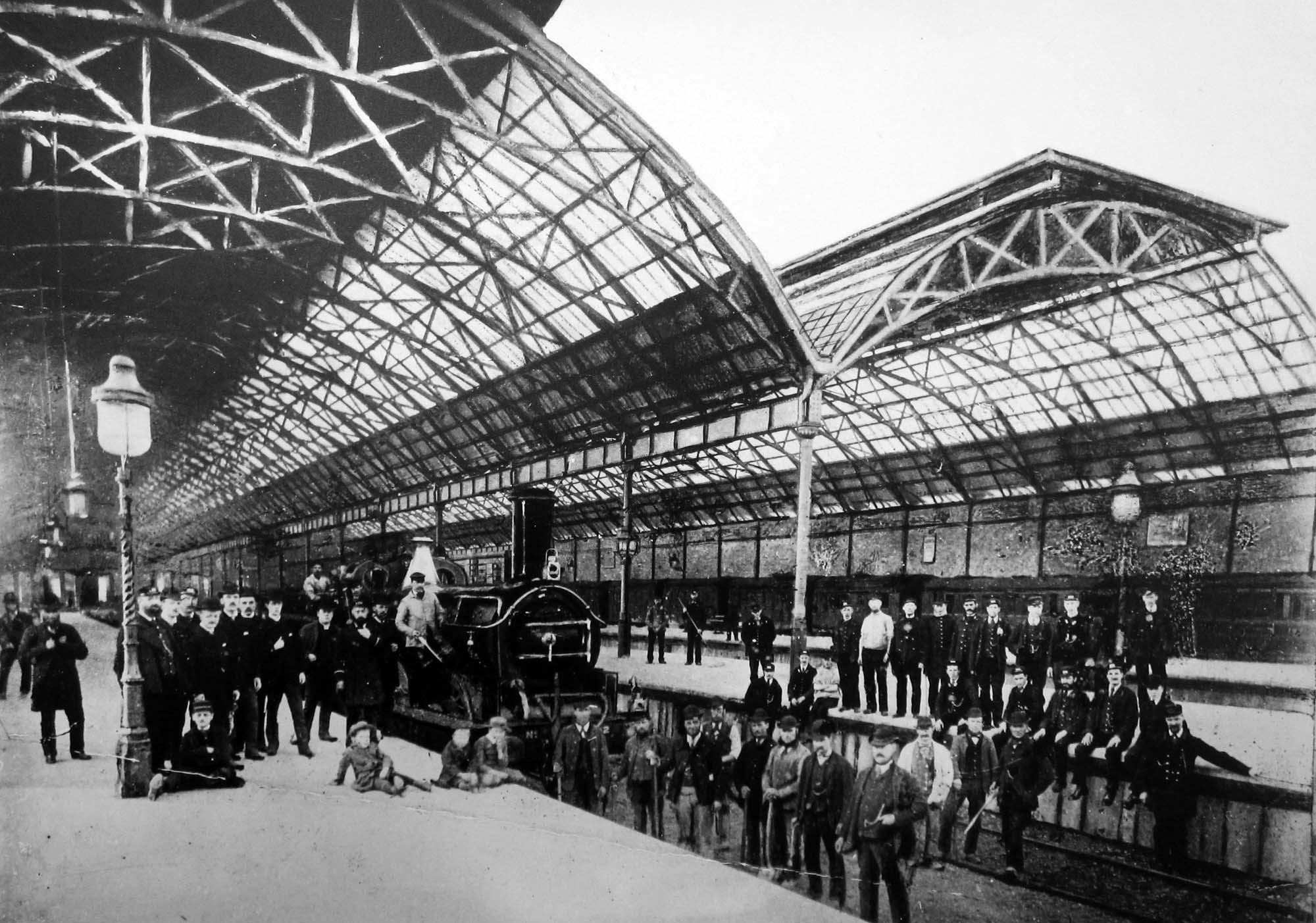 The opening of Belgrave Station in May 1882 - Leicestershire Record Office