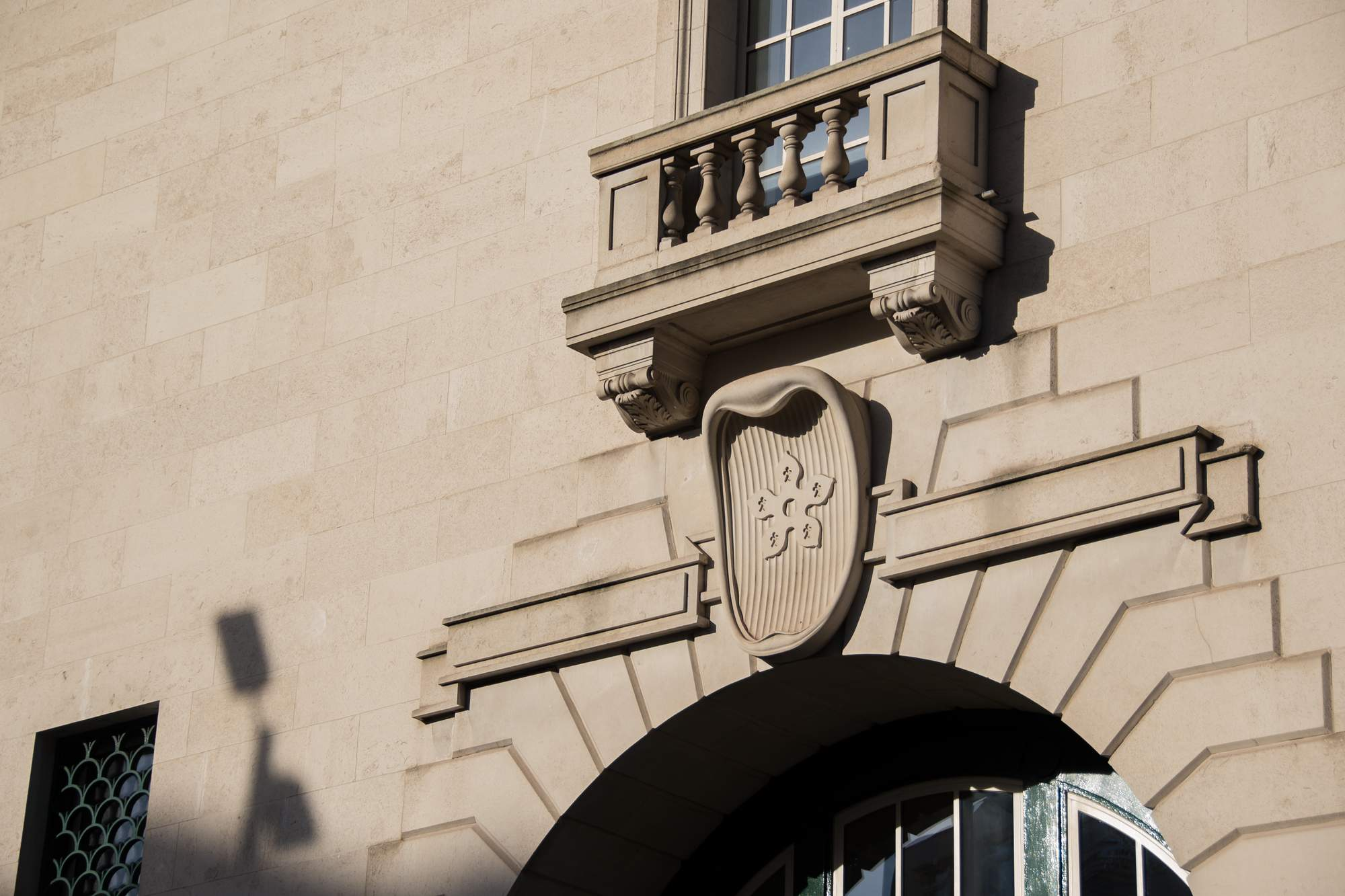 Detail of the building frontage -