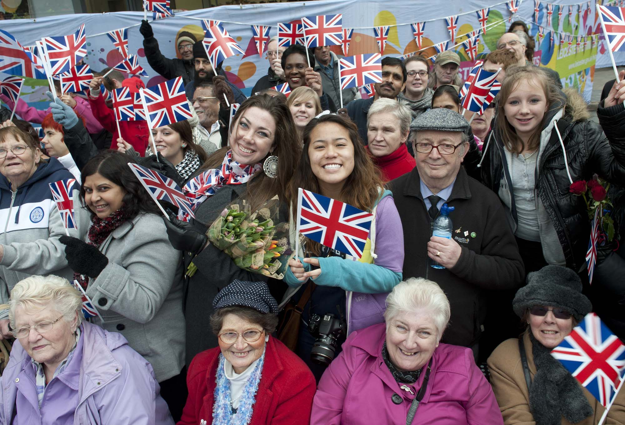 Crowds from every community in Leicester came out to see The Queen in her Golden Jubilee year, 2012 -