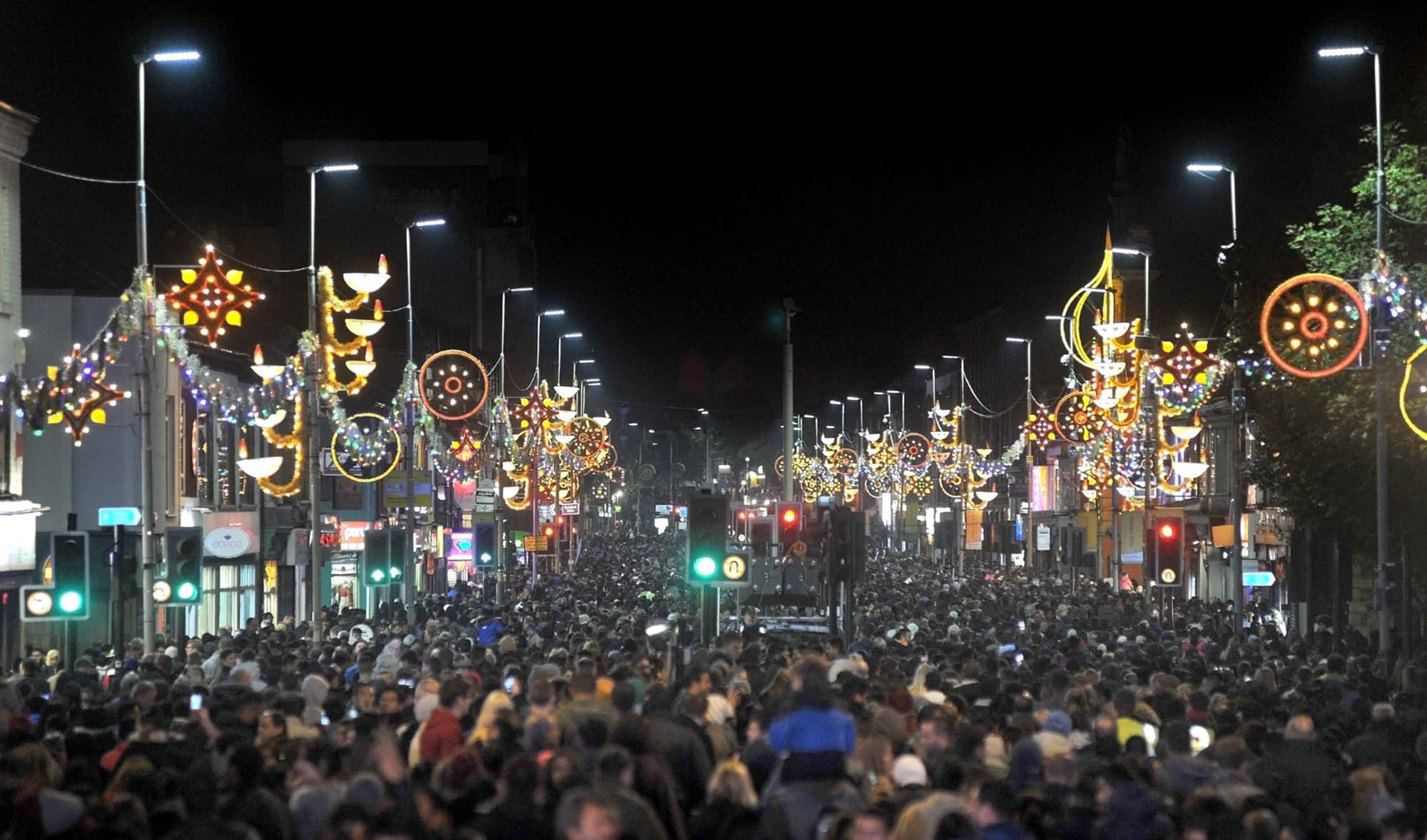 The Leicester Diwali celebrations are the largest outside of India attracting residents and tourists from all over the UK -