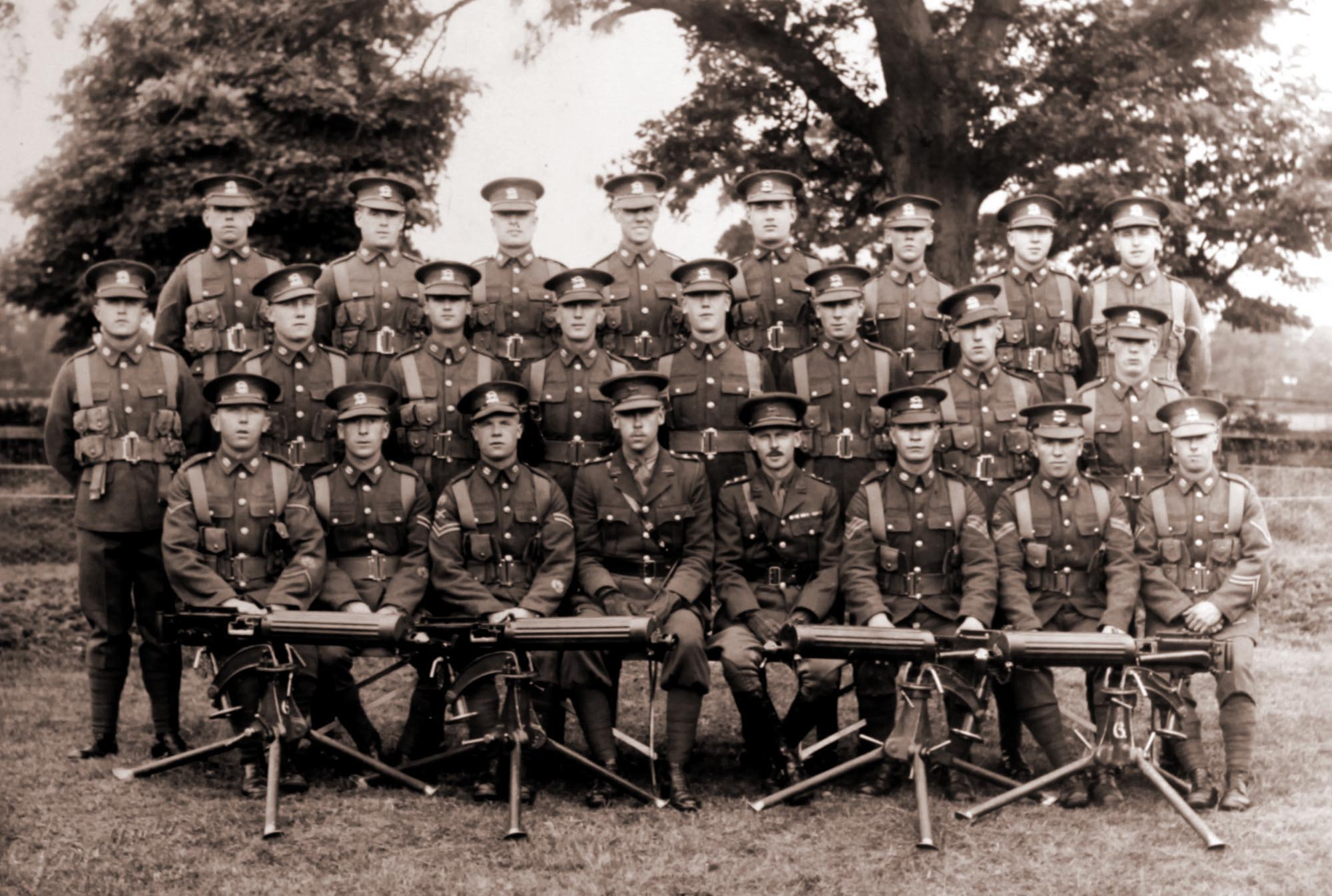 Leicester Regiment Soldiers, 1931 - Leicestershire Record Office