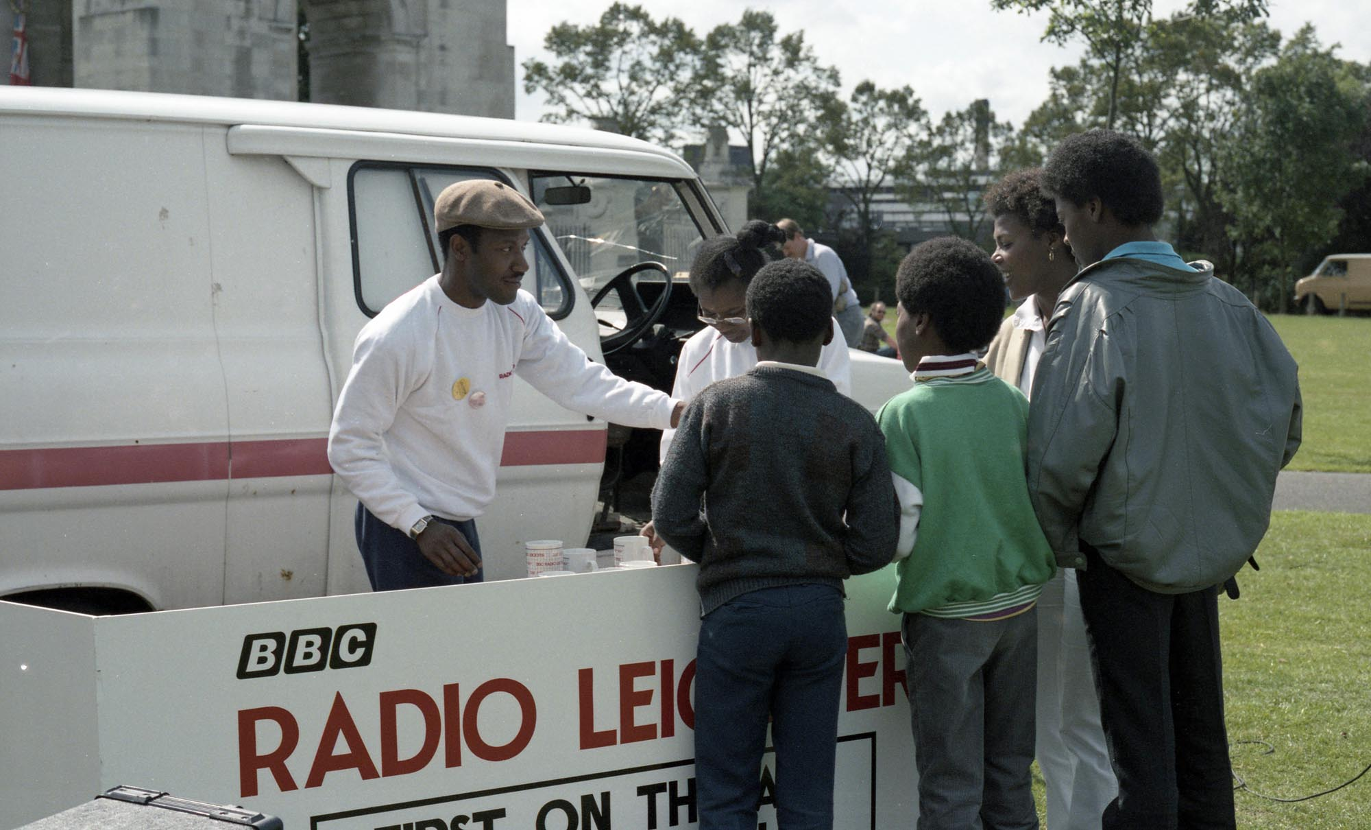 BBC Radio Leicester at the Carnival Village in 1986 -
