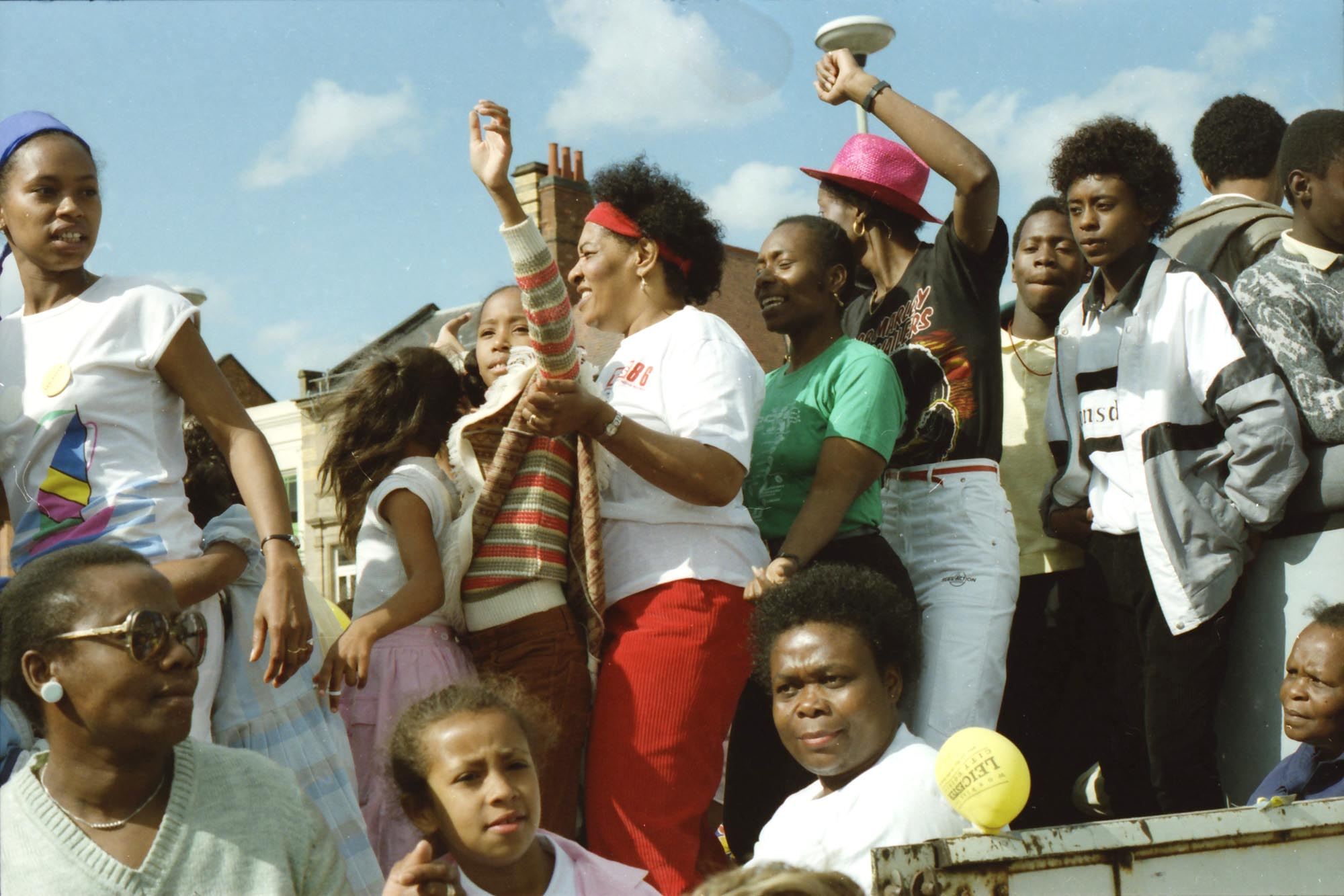 People enjoying the Caribbean Carnival, 1986 -