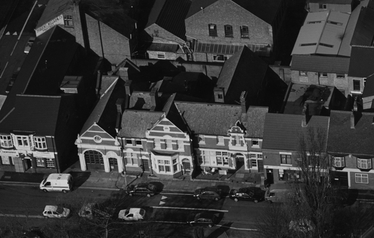Aerial view of 72 Ashfordby Street – date unknown - Leicestershire Police