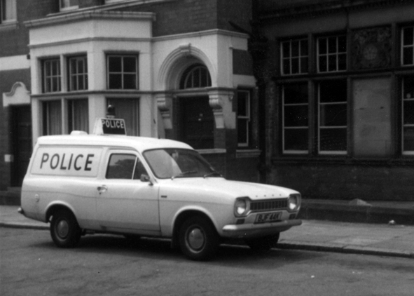 Panda Car outside the station c1960s/1970s - Leicestershire Police