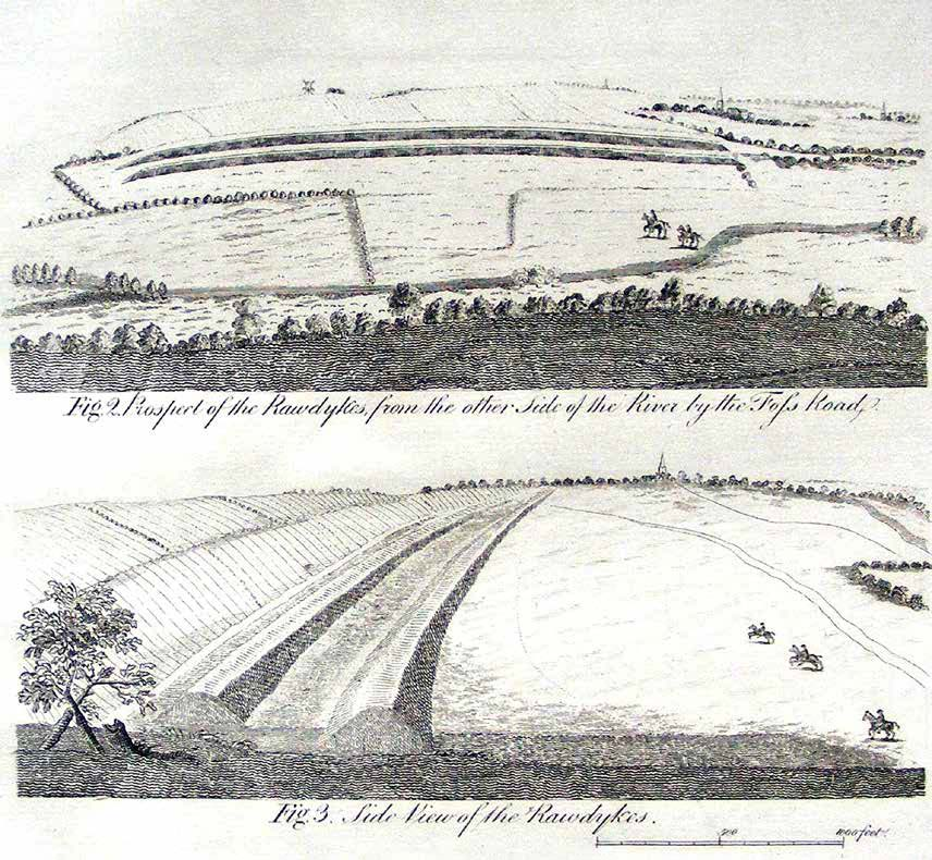 Drawings of the Raw Dykes in 1722 by William Stukeley - Record Office for Leicestershire, Leicester and Rutland